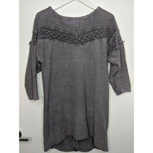 Long Sleeve Fringe Sweater
